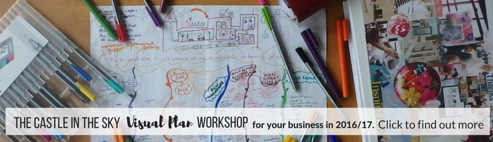 Inner Creative Castle in the Sky Visual Plan Workshop 22 July 2016 -innercreative.com.au