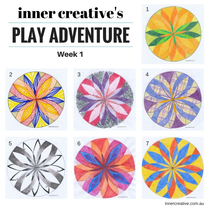 Inner Creative Creativity tips and Learnings from the Mandala Play Adventure Week 1. innercreative.com.au