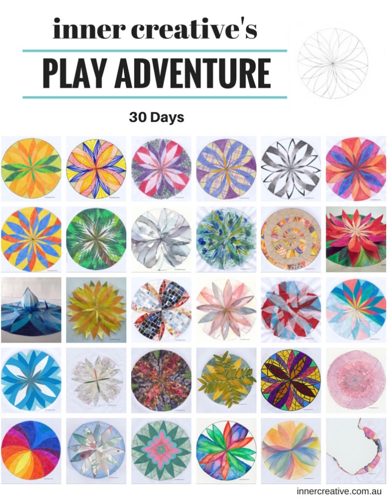 Inner Creative Play Adventure 30 days of mandalas. Read the blog about what I learnt about creativity. innercreative.com.au