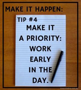 Inner Creative Make it happen tip 4. innercreative.com.au