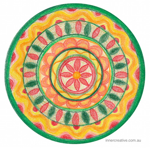 Inner Creative Seasons Greetings - Christmas Mandala 2015