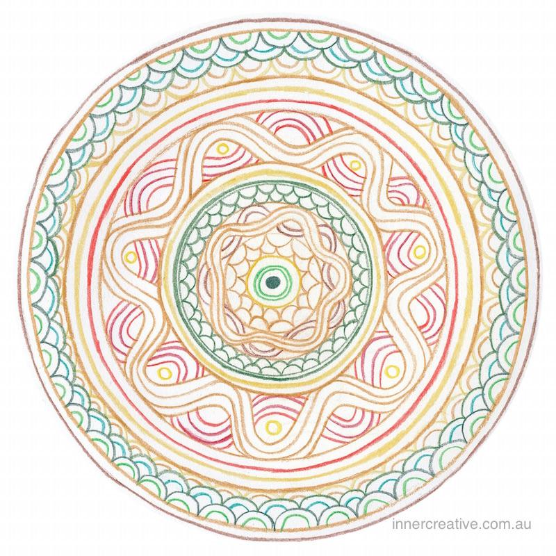 Inner Creative Mandala Inspiration- The Dragon Mandala. innercreative.com.au