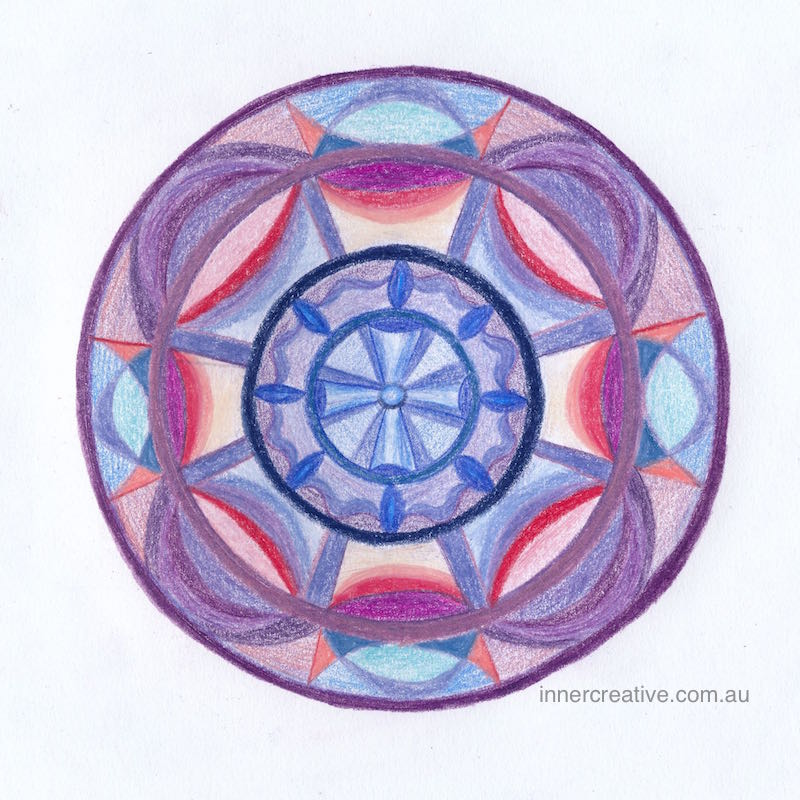 """Inner Creative - Mandala Inspiration called """"Finding your way"""". Click to see its supporting message."""