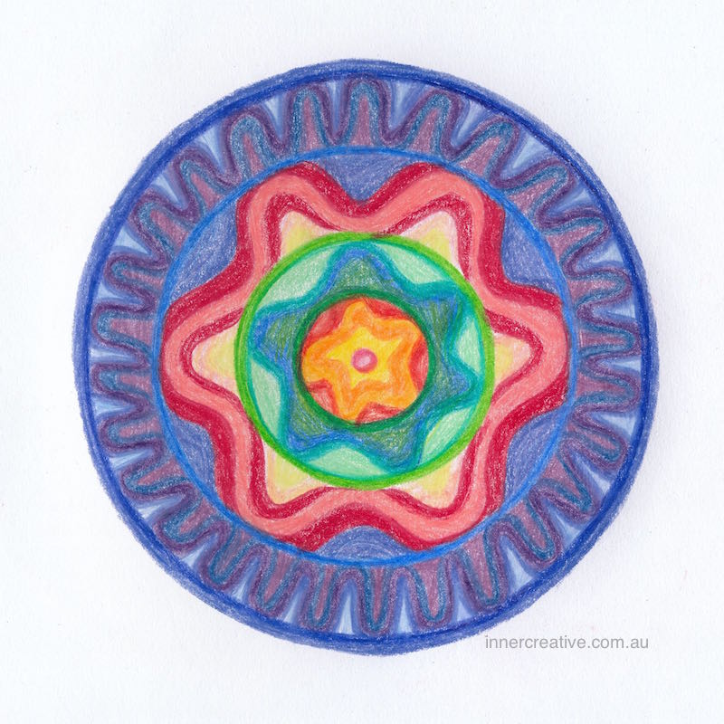 "Inner Creative - Mandala Inspiration called ""Surrender to the Flow"". Click to see its supporting message."