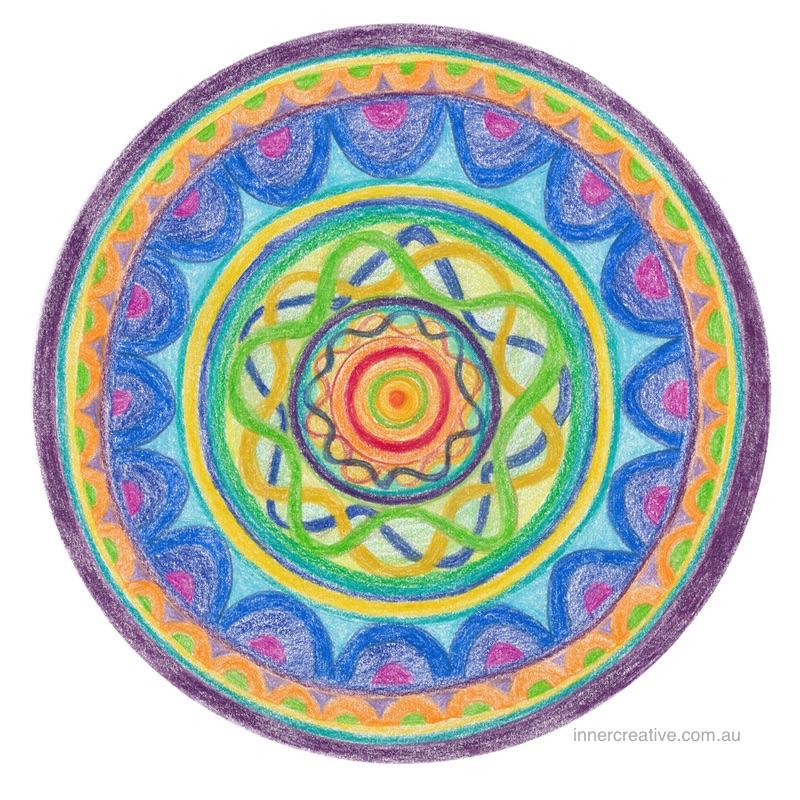 "Inner Creative - Mandala Inspiration called ""Strength in Numbers"". Click to see its supporting message."