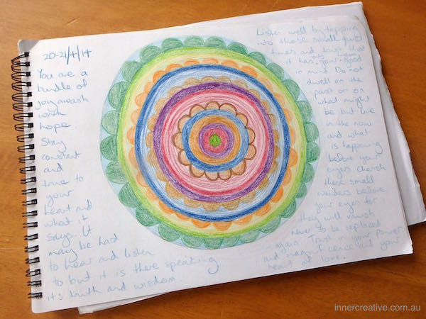 """Inner Creative - Mandala Inspiration called """"Joy Awash with Hope"""". Click to see more about this image and its supporting message."""