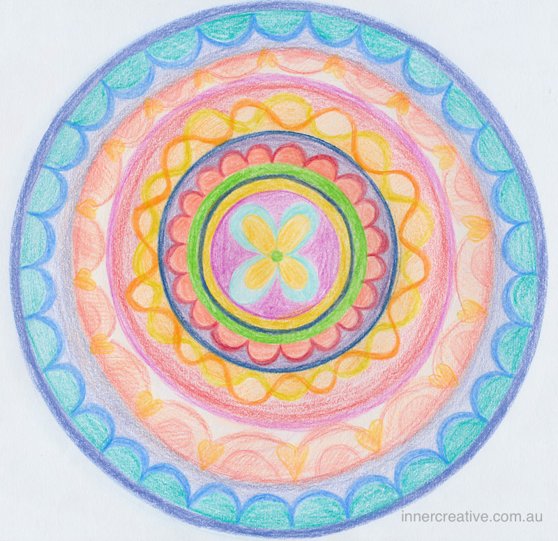 "Inner Creative - Mandala Inspiration called ""Thank you"". Click to see more about this image and its supporting message."
