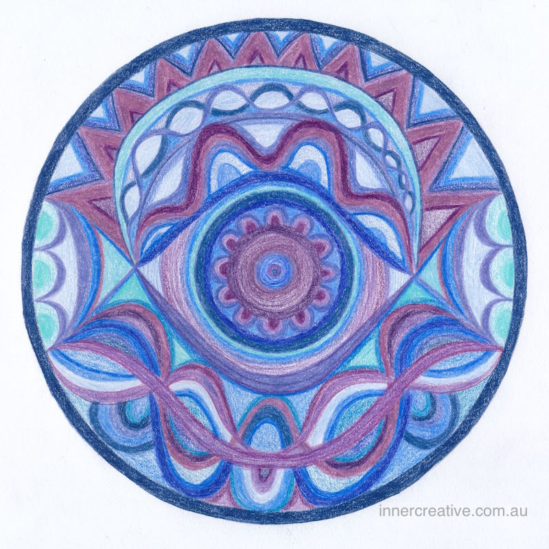 "Inner Creative - Mandala Inspiration called ""Transformation"". Click to see its supporting message."