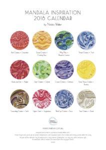 Inner Creative 2018 Inspiration Mandala Back Calendar Cover - innercreative.com.au