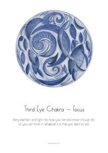 Inner Creative 2018 Inspiration Mandala Calendar third eye chakra- innercreative.com.au