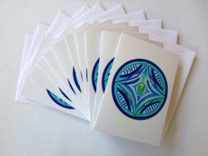 Inner Creative Christmas Star Mandala Cards - innercreative.com.au