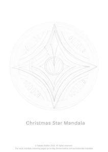 Inner Creative Christmas Star Mandala Colouring Page - innercreative.com.au