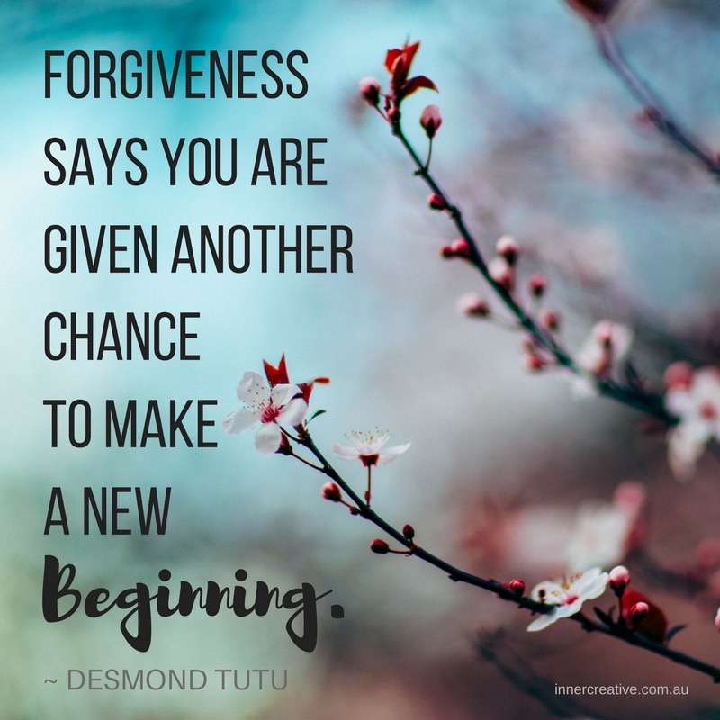 Forgiveness quote Desmond Tutu featured in Inner Creative blog -Increase your productivity with this surprising method - Forgiveness