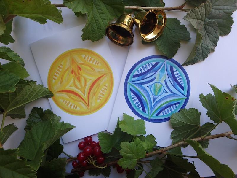Inner Creative Christmas Star Mandala Cards